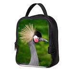 Grey Crowned Crane Neoprene Lunch Bag