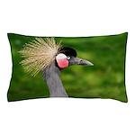 Grey Crowned Crane Pillow Case