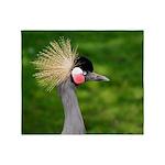 Grey Crowned Crane Throw Blanket