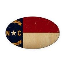 North Carolina State Flag VINTAGE Oval Car Magnet