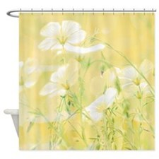 Yellow Wildflowers Shower Curtain For