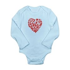 Maryland Heart Long Sleeve Infant Bodysuit