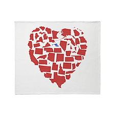 Maryland Heart Throw Blanket