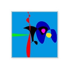 Abstract Expressionism Simple Digital Art Sticker