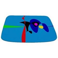 Abstract Expressionism Simple Digital Art Bathmat