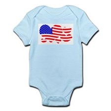 Flag hearts Body Suit