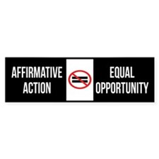 Anti Affirmative Action Bumper Sticker (10 Pack)