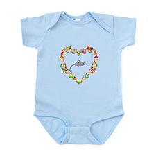 Fancy Heart Mouse Infant Bodysuit