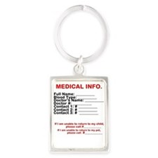 Medical Info Keychain Keychains