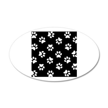 Black and white Pawprint pattern Wall Sticker