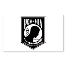 POW MIA 2 Rectangle Decal