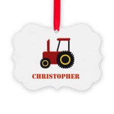 Personalised Red Tractor Ornament