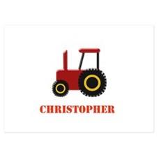 Personalised Red Tractor Invitations