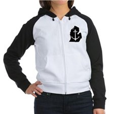 Traverse City Women's Raglan Hoodie