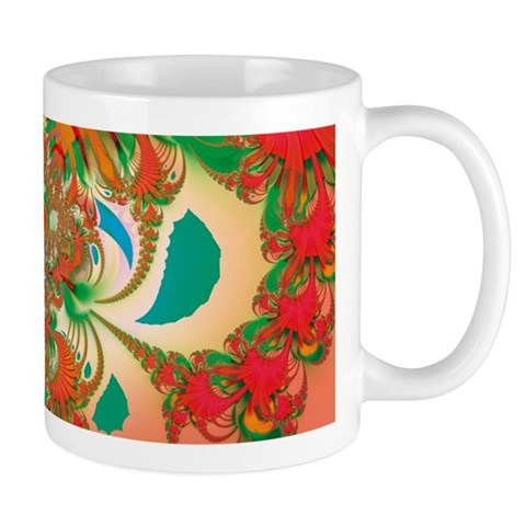 Abstract Red Owl Mugs