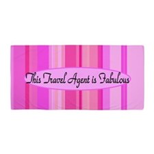 Pink Travel Agent Beach Towel