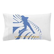 Personalize Sport Blue Baseball Logo Pillow Case