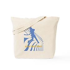 Personalize Sport Blue Baseball Logo Tote Bag