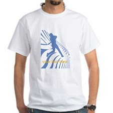 Personalize Sport Blue Baseball Logo T-Shirt