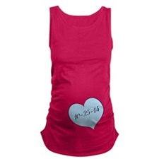 Due Date Blue Heart Maternity Tank Top