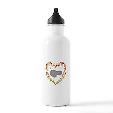 Fancy Heart Hippo Water Bottle