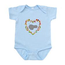 Fancy Heart Hippo Infant Bodysuit