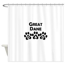 Great Dane Dad Shower Curtain