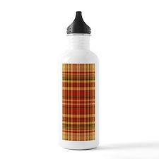 Pizza Plaid Water Bottle