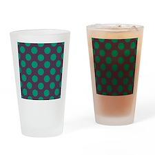 Teal Polkadots Drinking Glass