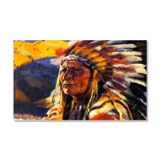 Indian Chief Car Magnet 20 x 12