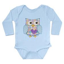Purple heart owl Body Suit