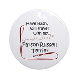 Parson Travel Leash Ornament (Round)