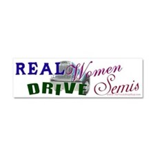 Funny Real women Car Magnet 10 x 3