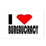 I Love Bureaucracy Postcards (Package of 8)