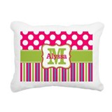 Monogrammed Rectangle Canvas Pillows