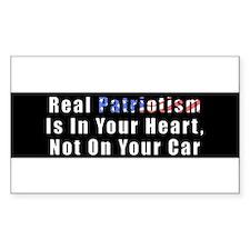 patriotism_whtext_blkbg Decal