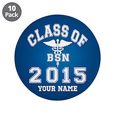 """Class Of 2015 BSN 3.5"""" Button (10 pack)"""