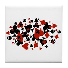 Cute Poker Tile Coaster