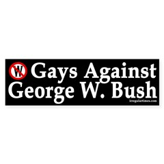 Gays Against Bush (Bumper Sticker)