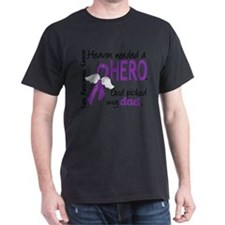 -Heaven Needed Hero Dad Pancreatic Cancer T-Shirt