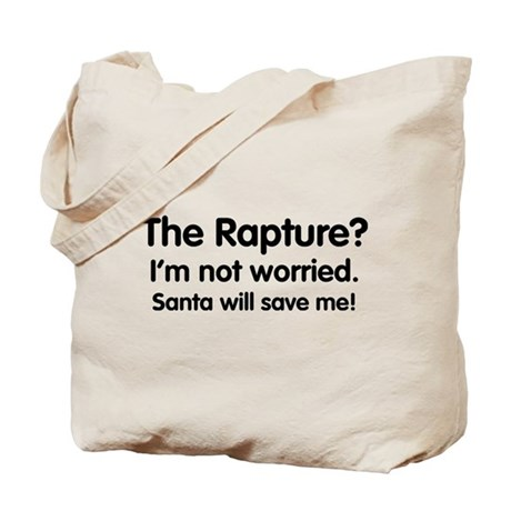 The Rapture vs. Santa Tote Bag