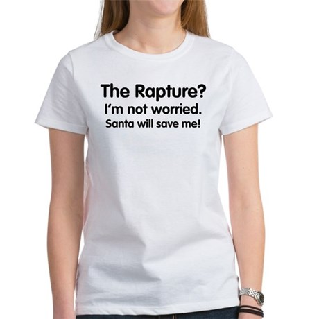 The Rapture vs. Santa Womens T-Shirt