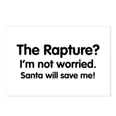 The Rapture vs. Santa Postcards (Package of 8)