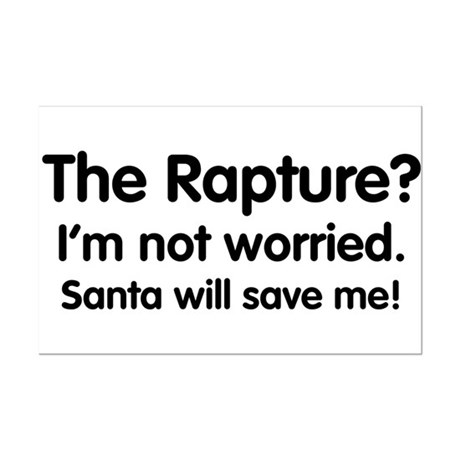 The Rapture vs. Santa Mini Poster Print
