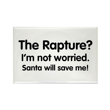 The Rapture vs. Santa Rectangle Magnet