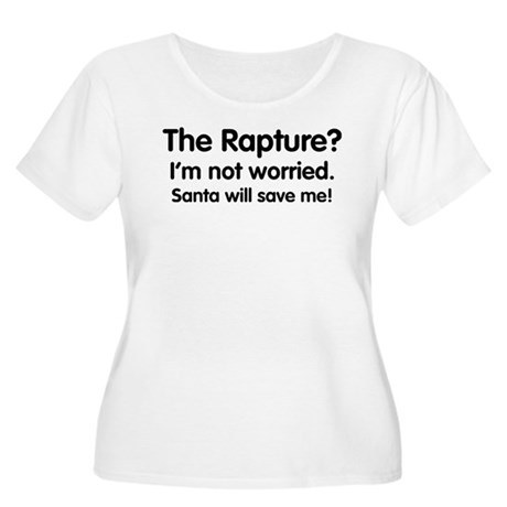 The Rapture vs. Santa Womens Plus Size Scoop Neck