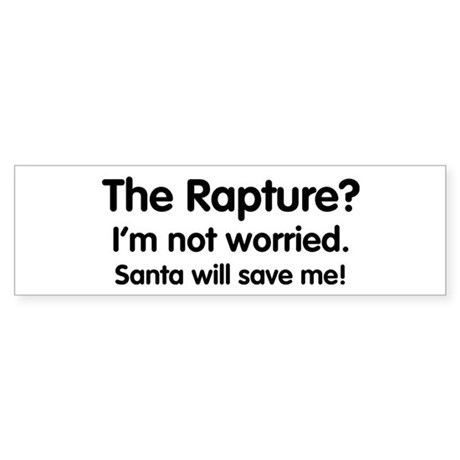 The Rapture vs. Santa Bumper Sticker