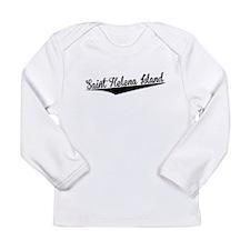 Saint Helena Island, Retro, Long Sleeve T-Shirt