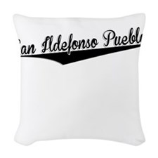 San Ildefonso Pueblo, Retro, Woven Throw Pillow