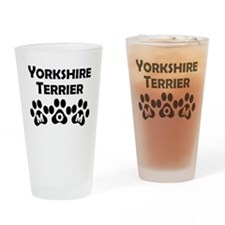 Yorkshire Terrier Mom Drinking Glass